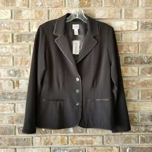 Chicos Black Lined Blazer Magique Abrielle Jacket